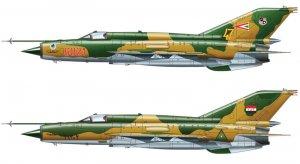 Mig-21 MF Fishbed  (Vista 3)