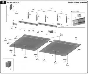 Guardarail y la sección de carretera  (Vista 4)