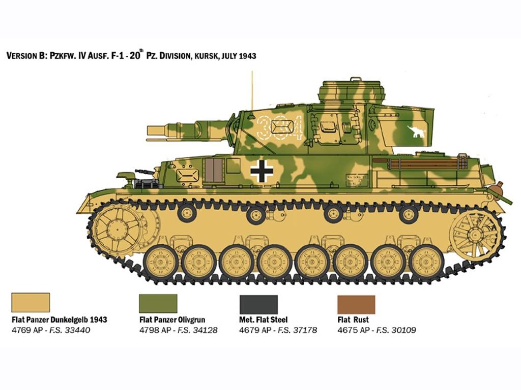 Pz.Kpfw. IV Ausf. F1/F2/G  (Vista 4)