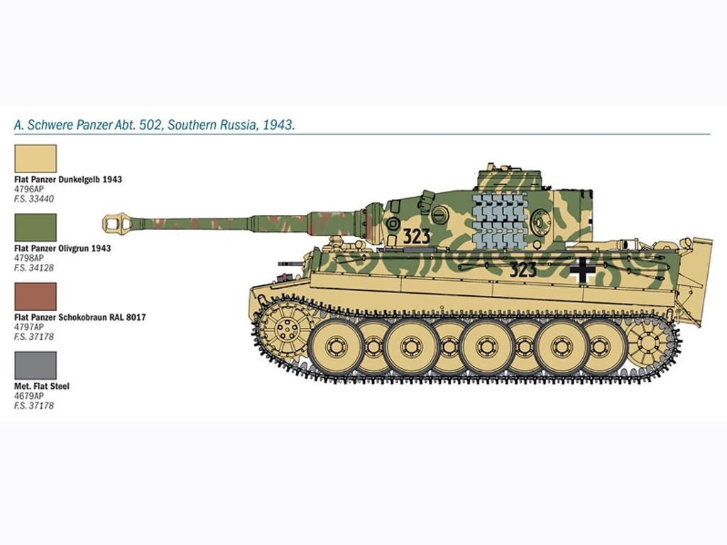 PZ. KPFW. VI Tiger Ausf. E  (Vista 3)