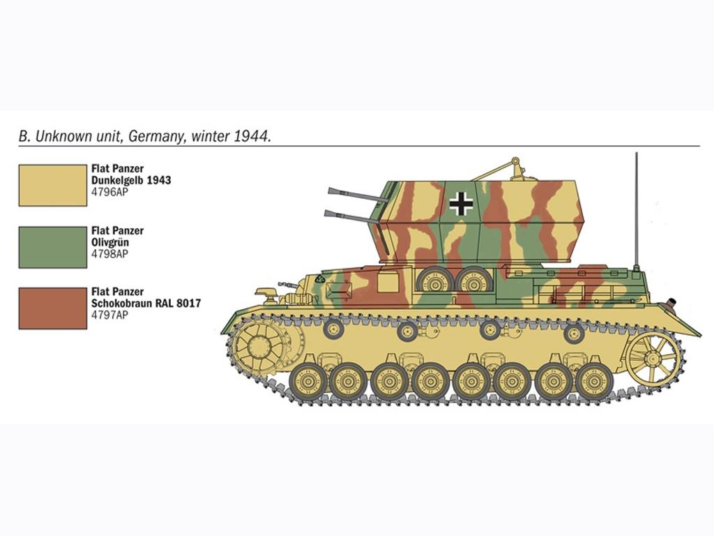 Flakpanzer IV Wirbelwinds  (Vista 4)