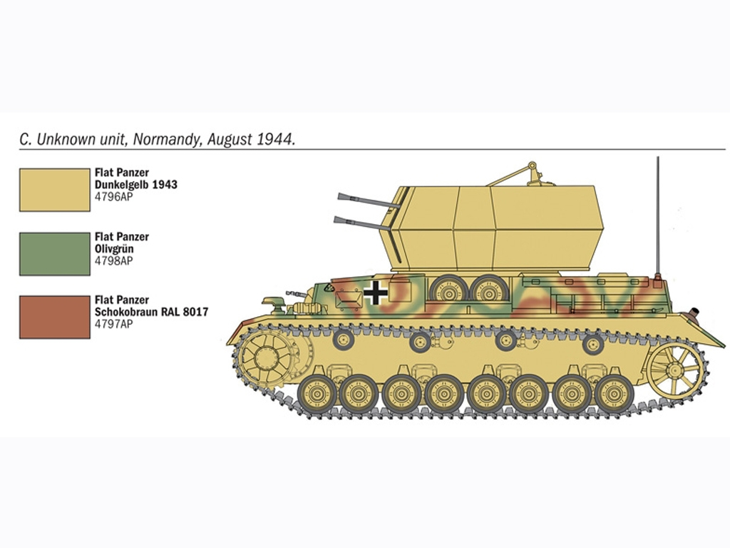 Flakpanzer IV Wirbelwinds  (Vista 5)