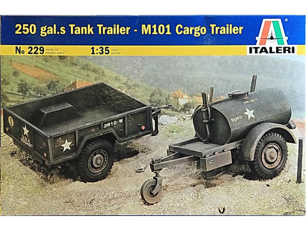 Remolque con cisterna 250 gals. y remolque de carga M10 (Vista 1)
