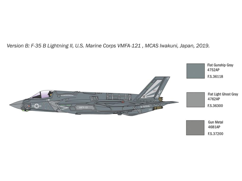 F-35 B Lightning II STOVL version (Vista 4)