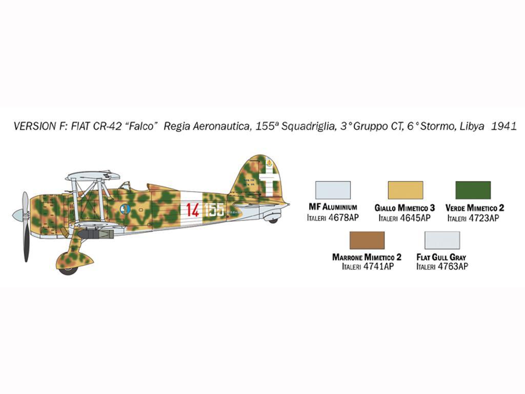 FIAT CR.42 Falco (Vista 9)