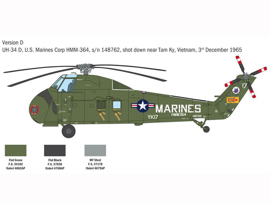 H-34A Pirate / UH-34D U.S. Marines (Vista 7)