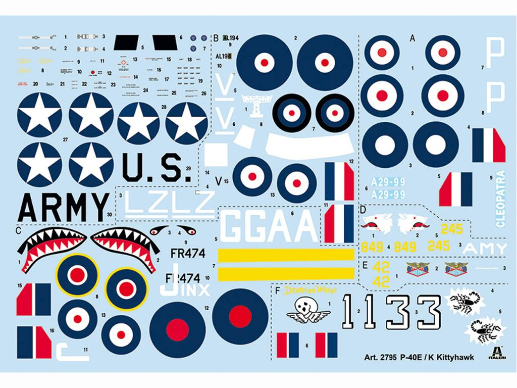P-40 E/K Kittyhawk (Vista 3)