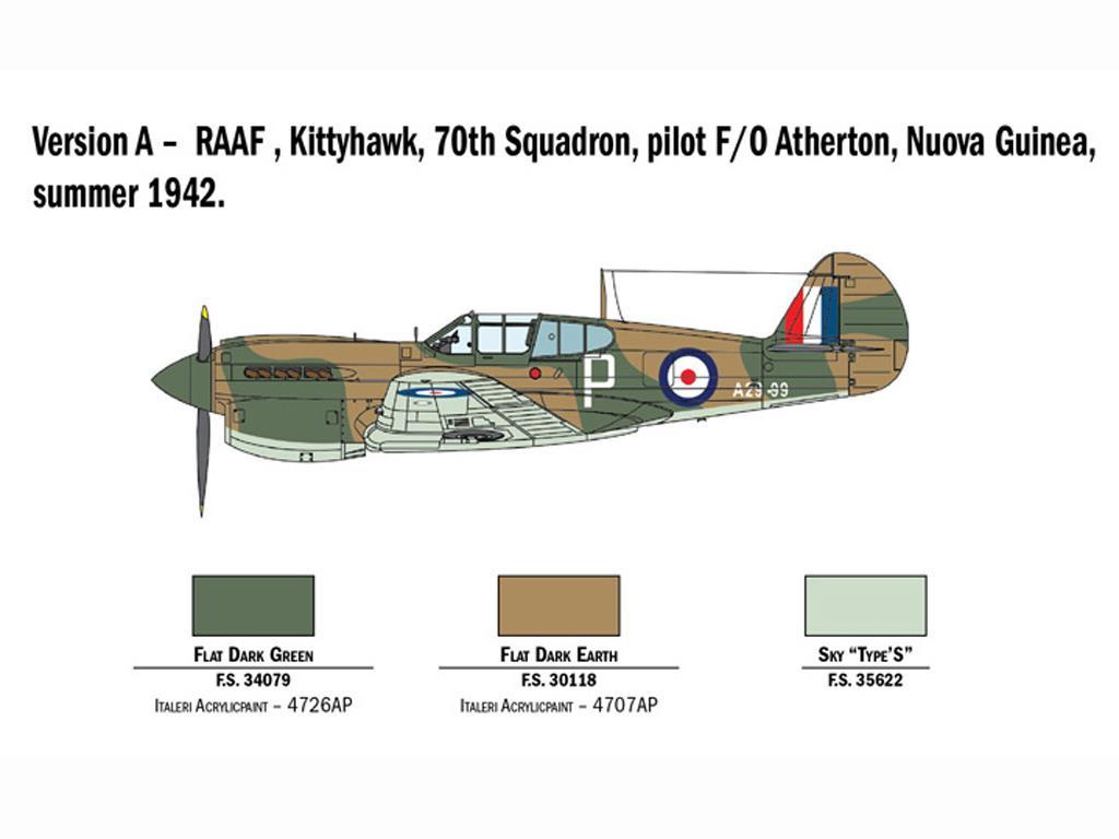 P-40 E/K Kittyhawk (Vista 4)