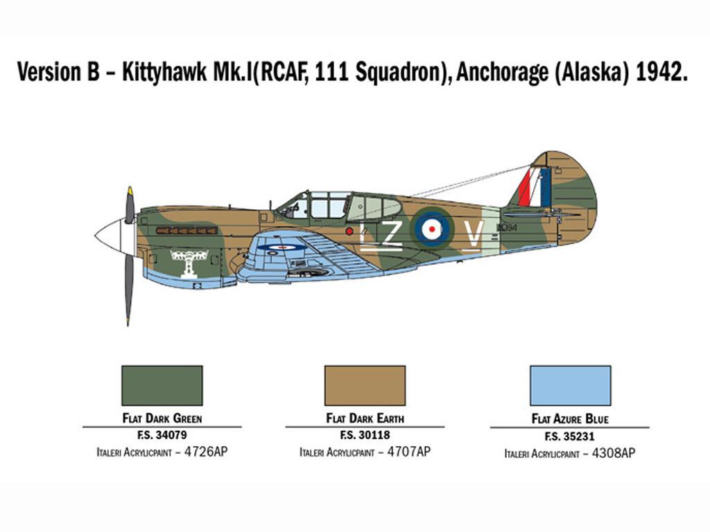 P-40 E/K Kittyhawk (Vista 5)