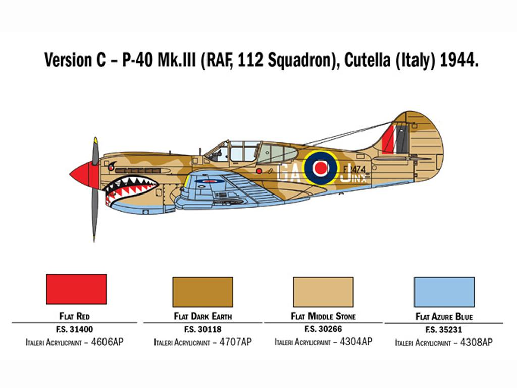 P-40 E/K Kittyhawk (Vista 6)