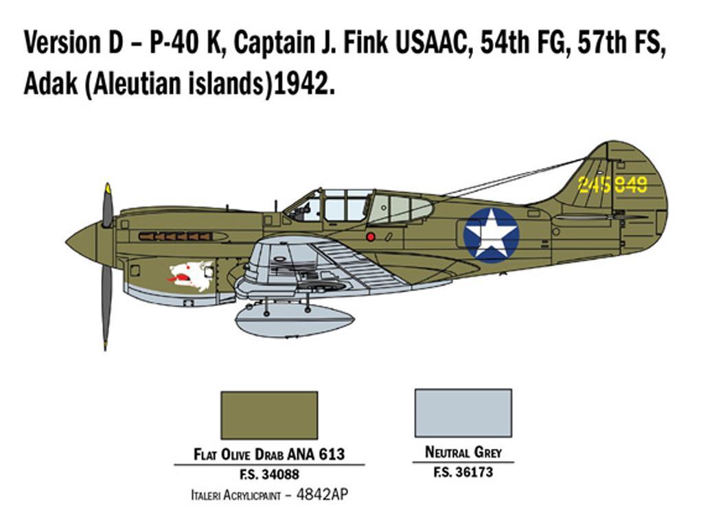 P-40 E/K Kittyhawk (Vista 7)