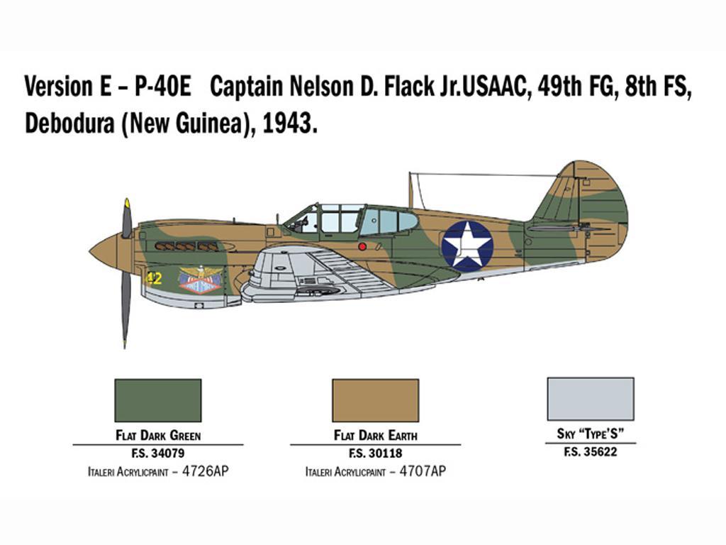 P-40 E/K Kittyhawk (Vista 8)
