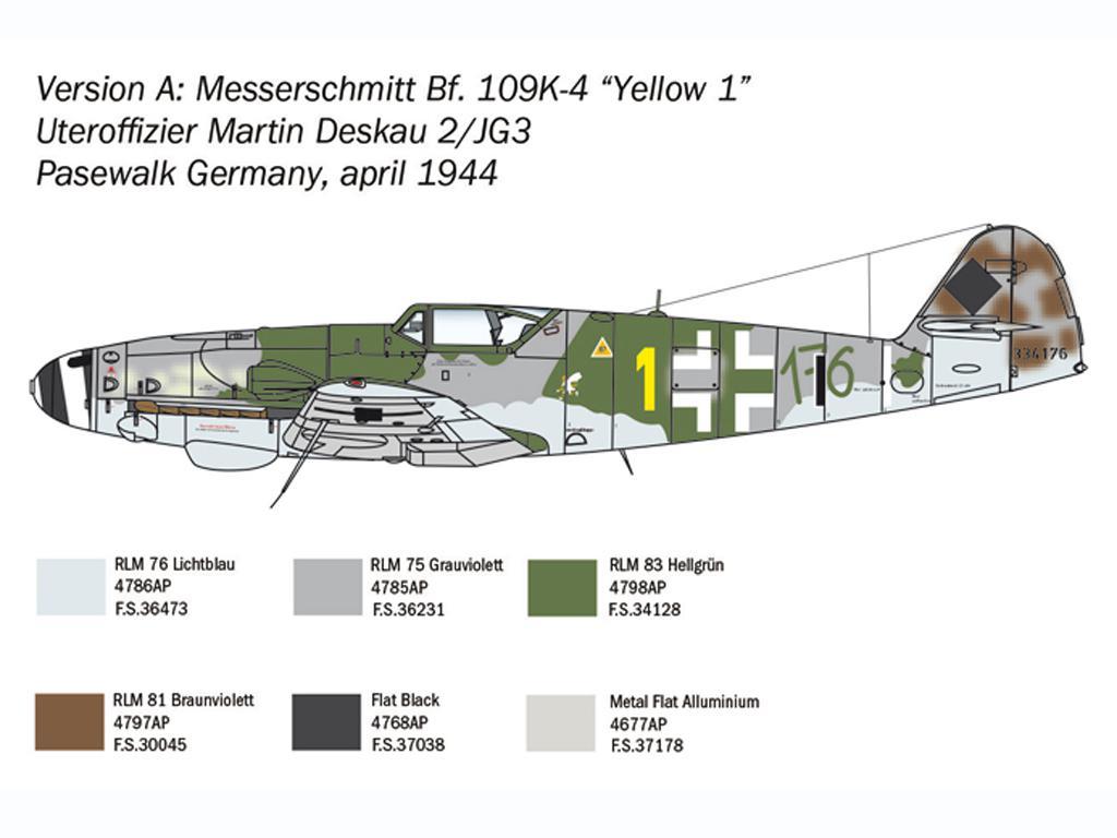 Bf 109 K-4 (Vista 4)