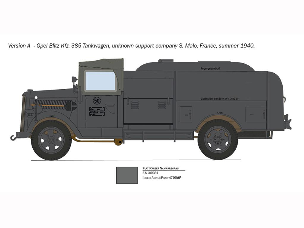 Opel Blitz Tankwagen Kfz.385 Battle of Britain (Vista 4)
