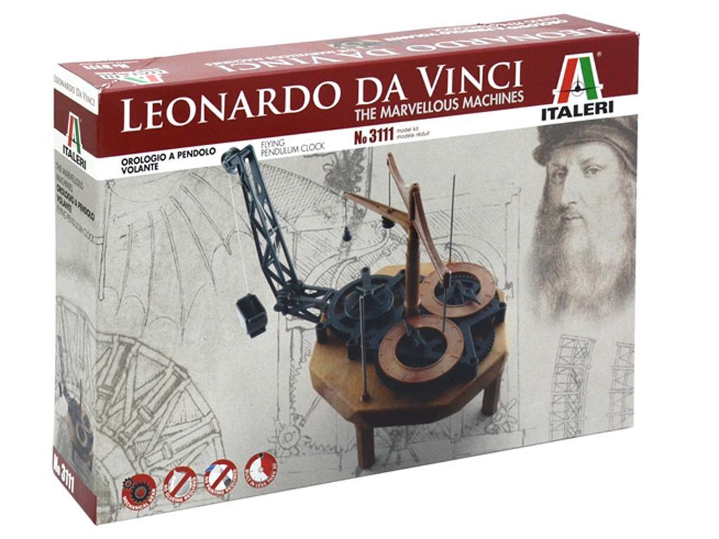 Reloj de Pendulo - Leonardo Da Vinci (Vista 1)