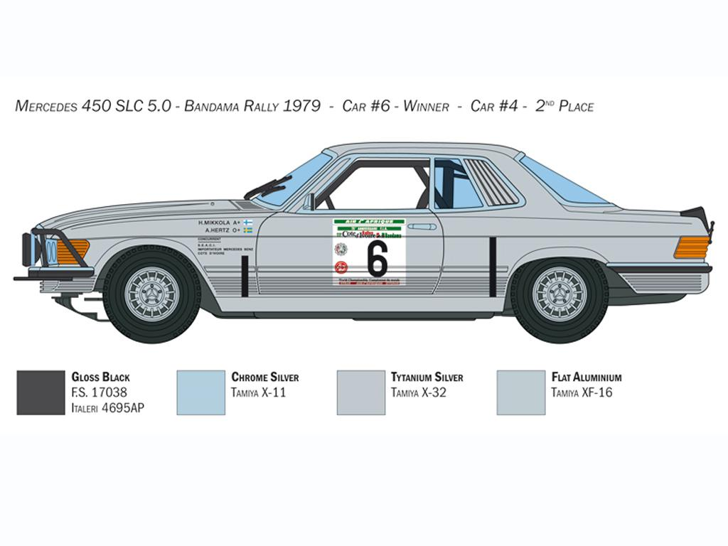 Mercedes-Benz 450SLC Rallye Bandama 1979 (Vista 2)