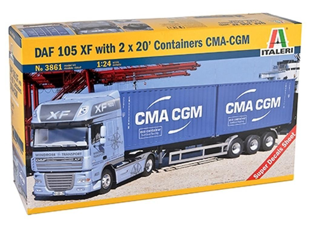 DAF XF105 w/2 X 20ft container (Vista 1)