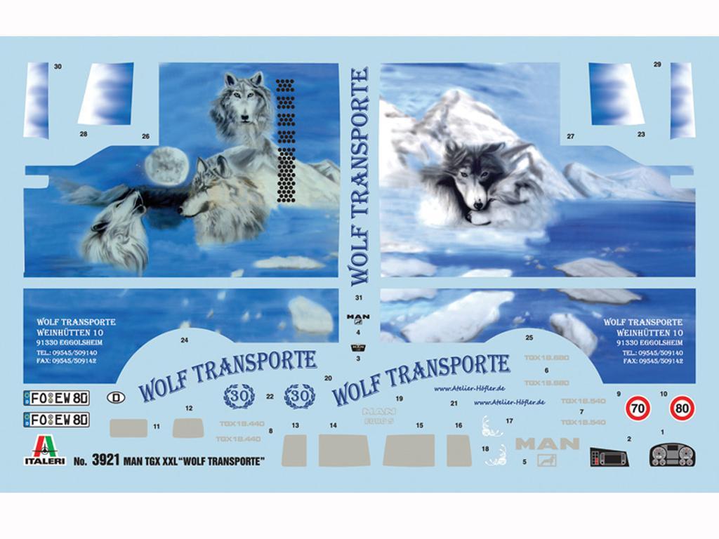 MAN TGX XXL Wolf Transport (Vista 3)