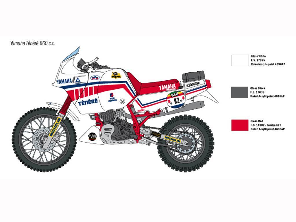 Yamaha Ténéré 660cc Paris Dakar 1986 (Vista 4)