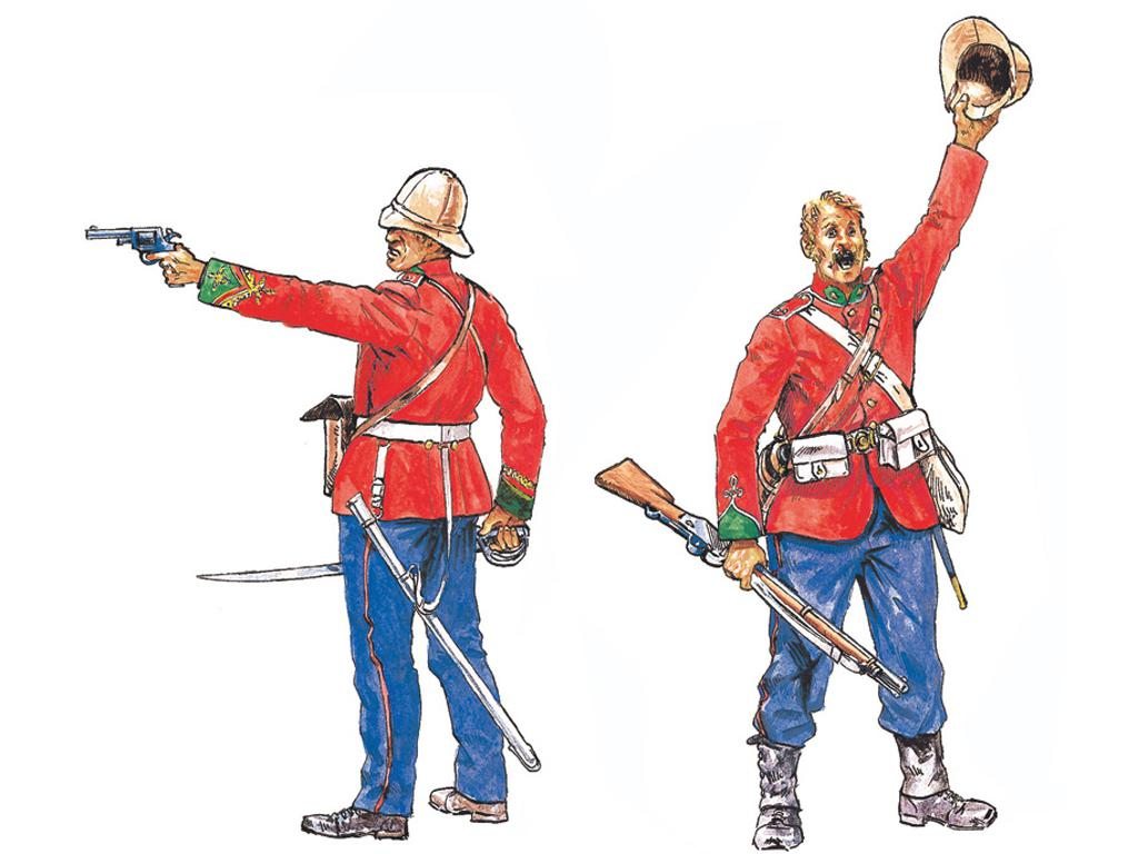 Infanteria Britanica, Guerra Zulu (Vista 2)