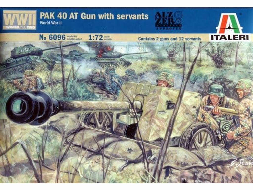 Cañon Aleman 40 AT y sirvientes (Vista 1)
