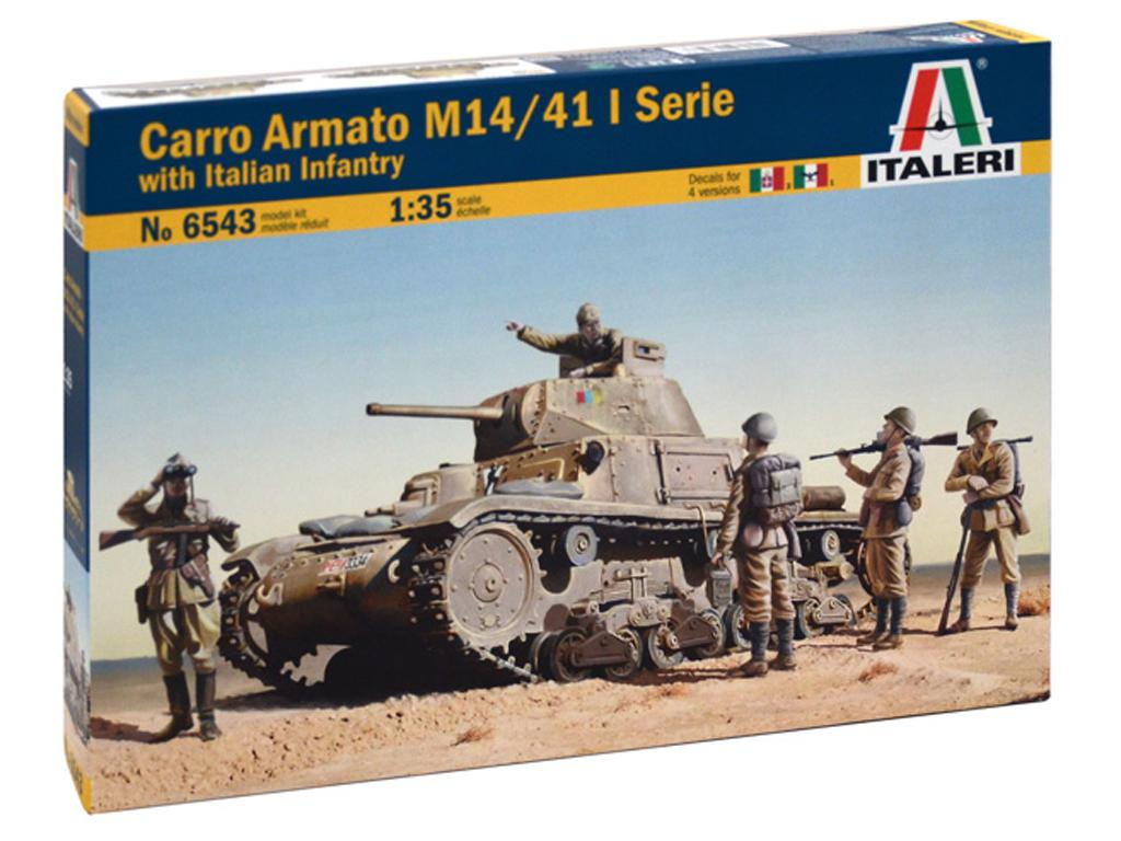 M14 / 41 con infantería italiana (Vista 1)