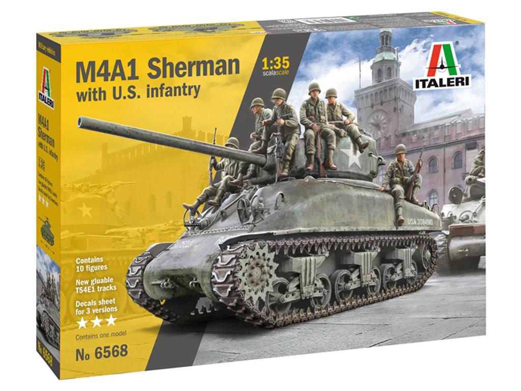 M4A1 Sherman con Infantería de EE.UU. (Vista 1)