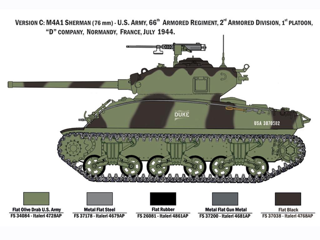 M4A1 Sherman con Infantería de EE.UU. (Vista 2)