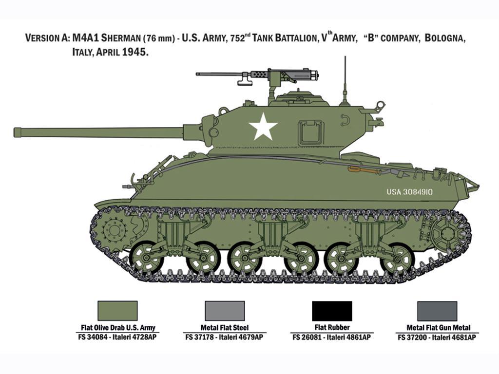 M4A1 Sherman con Infantería de EE.UU. (Vista 4)
