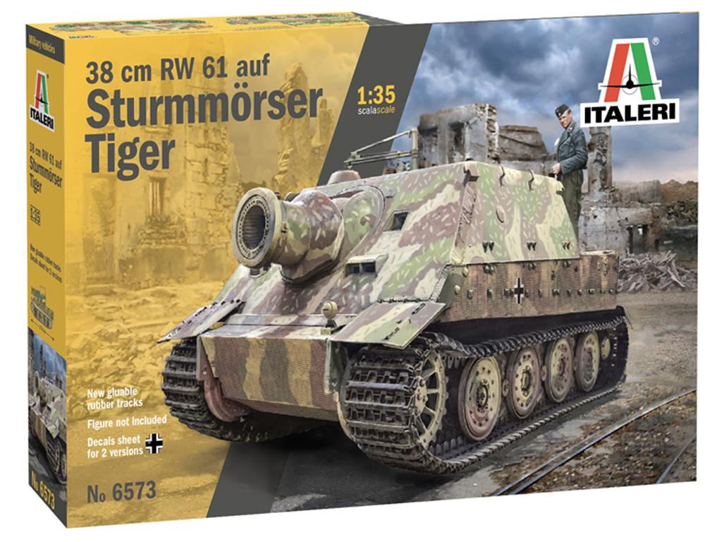 38 cm RW 61 auf Sturmmorser Tiger (Vista 1)