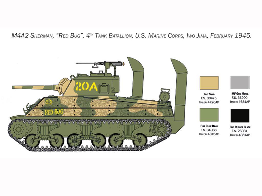 M4 Sherman U.S. Marines Corps (Vista 4)