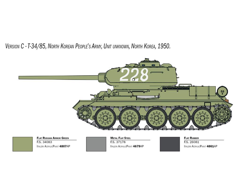 T-34/85 Korean War (Vista 6)