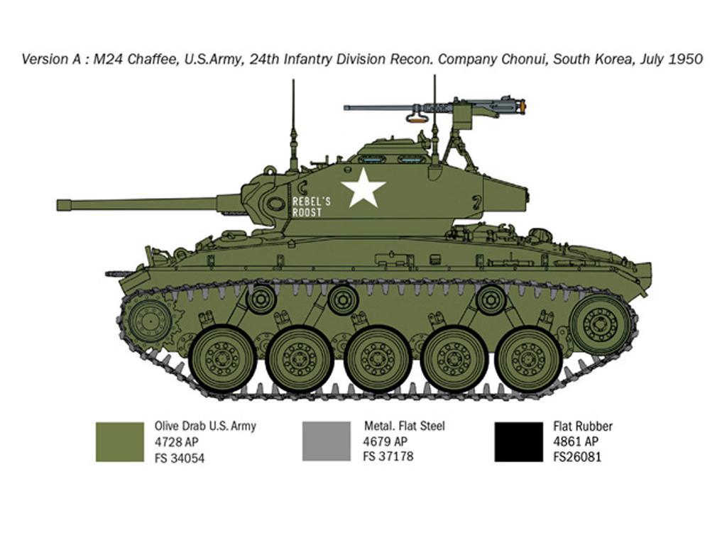 M24 Chaffee Korean War (Vista 4)