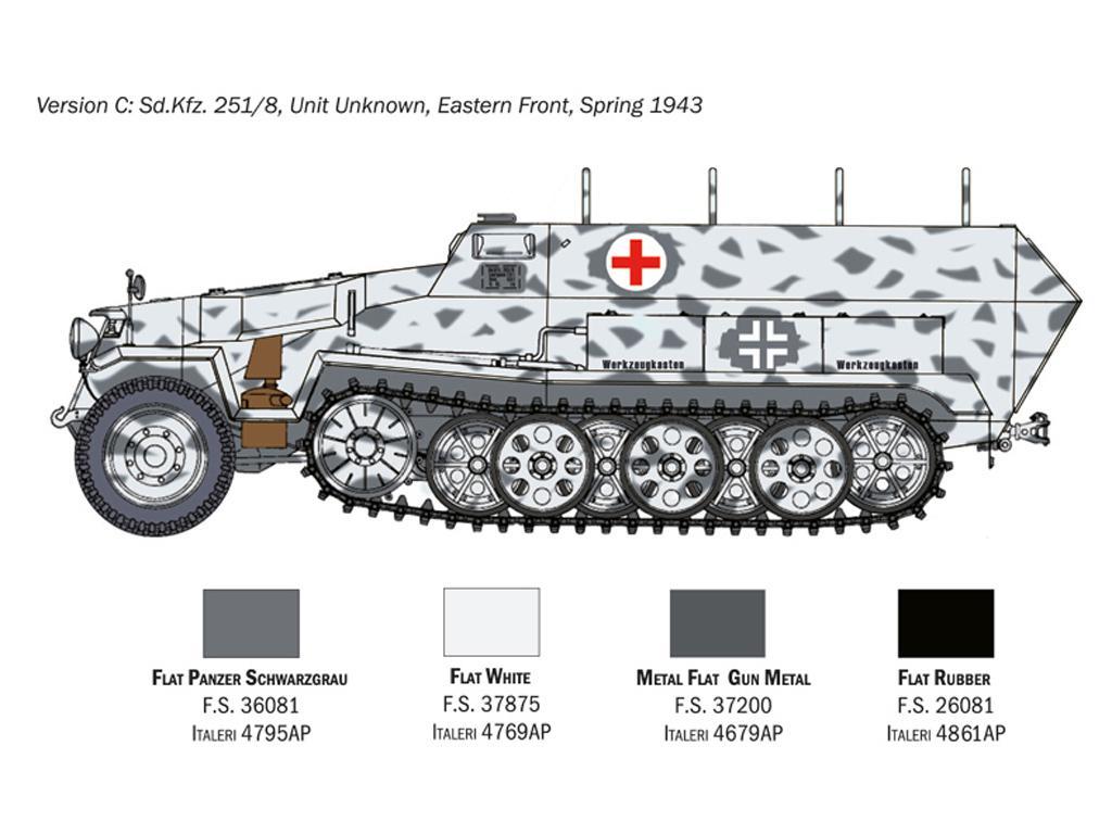 Sd.Kfz. 251/8 Ambulancia (Vista 2)