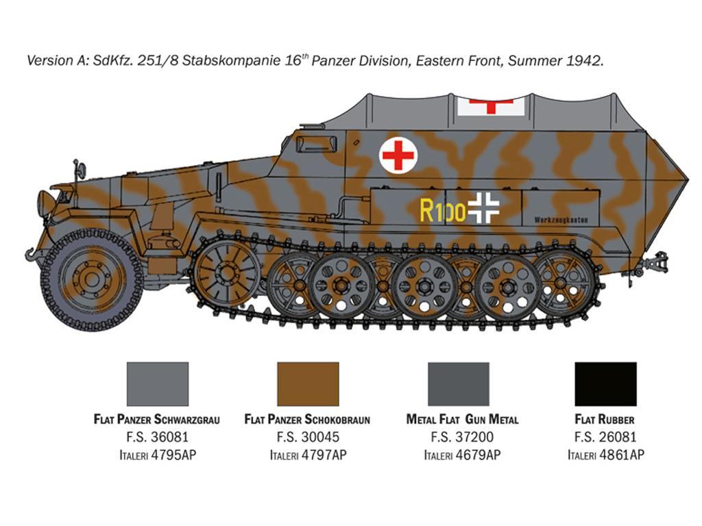 Sd.Kfz. 251/8 Ambulancia (Vista 4)