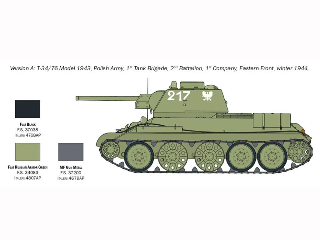T-34/76 Model 1943 (Vista 4)