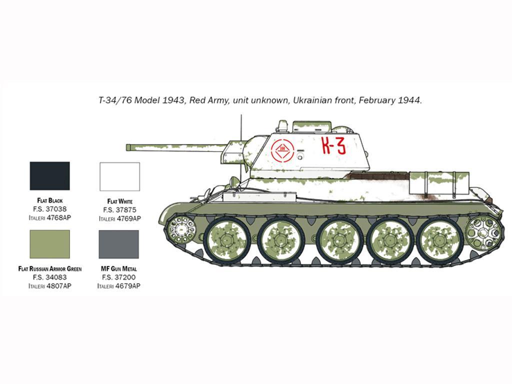 T-34/76 Model 1943 (Vista 5)