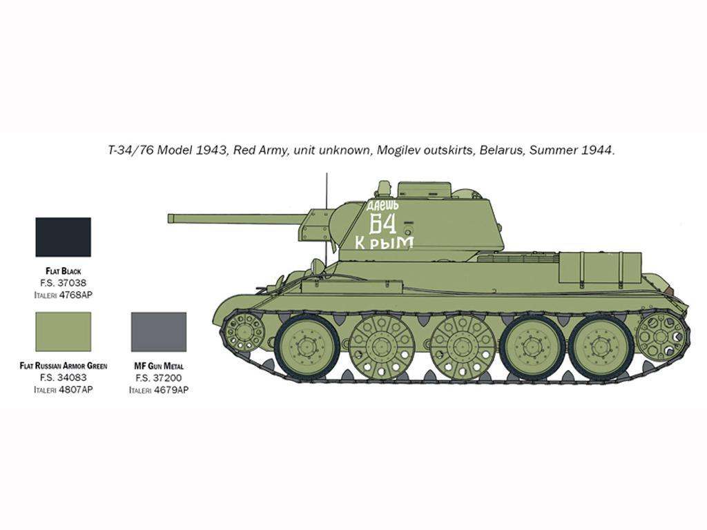 T-34/76 Model 1943 (Vista 6)