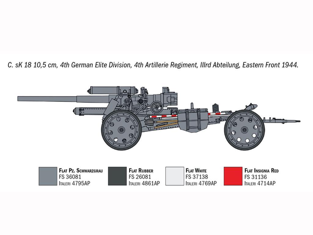 15cm Field Howitzer 10,5 cm Field Gun (Vista 2)