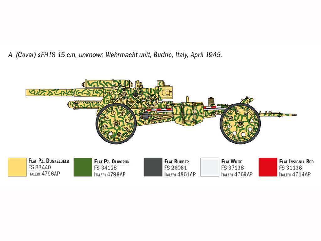 15cm Field Howitzer 10,5 cm Field Gun (Vista 6)