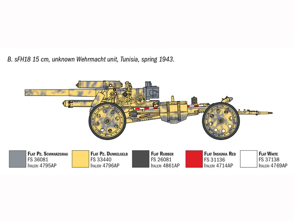 15cm Field Howitzer 10,5 cm Field Gun (Vista 7)