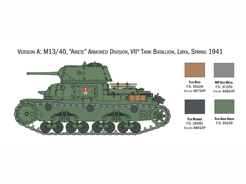 Italian Tanks - Semoventi M13/40 - M14/41 - M40 - M41 (Vista 4)