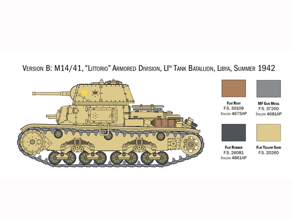 Italian Tanks - Semoventi M13/40 - M14/41 - M40 - M41 (Vista 5)