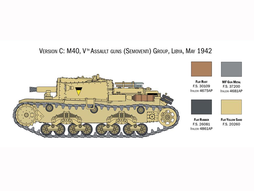 Italian Tanks - Semoventi M13/40 - M14/41 - M40 - M41 (Vista 6)