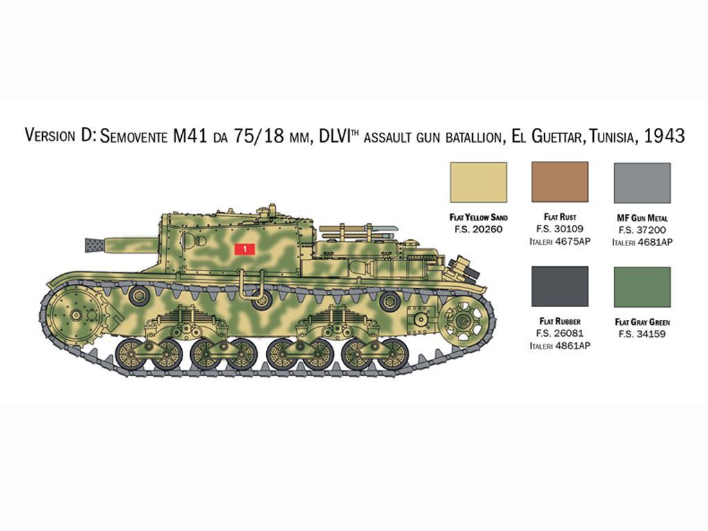 Italian Tanks - Semoventi M13/40 - M14/41 - M40 - M41 (Vista 7)