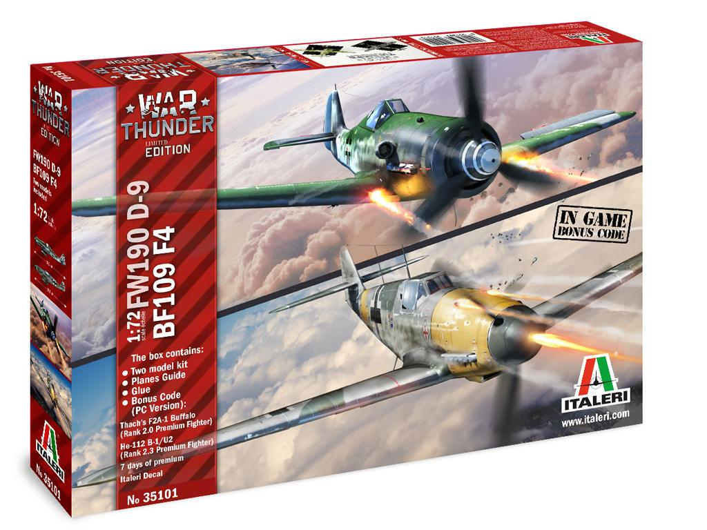 BF109 F-4 and FW 190 D9 (Vista 1)