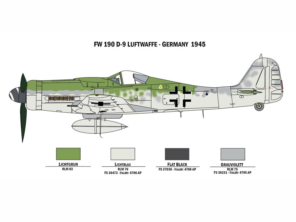 BF109 F-4 and FW 190 D9 (Vista 2)
