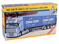 DAF XF105 w/2 X 20ft container (Vista 2)