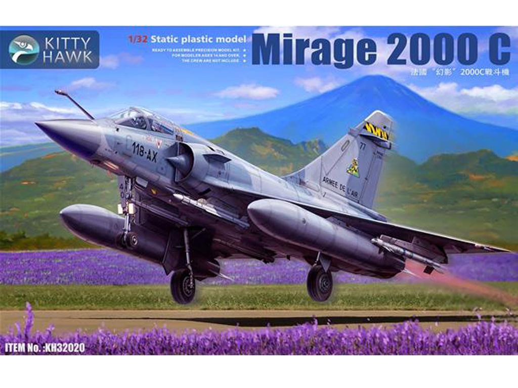 Mirage 2000 C con 1 figura piloto (Vista 1)