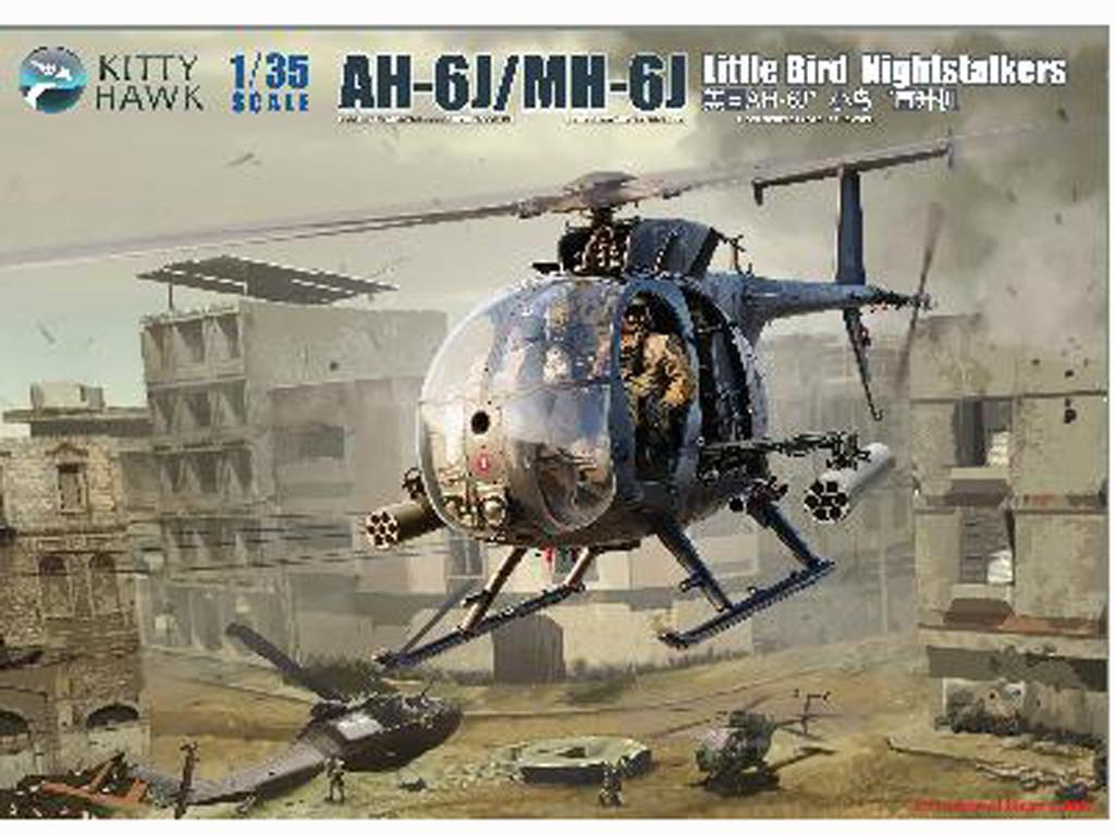 AH-6J/MH-6J Pajarillo con 6 figuras de r (Vista 1)